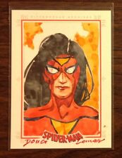 Spider Woman Spider-Man Archives color sketch card 1/1 Doug Cowan