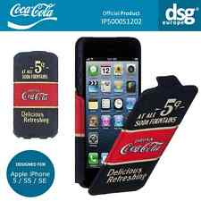 Coca-cola Original Antigua 5 centavos Abatible Estuche Cubierta para Apple iPhone 5/5S/se