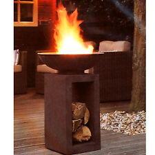 caldo moderno BRACIERE Cestino per il fuoco in gussstein Ø 39,5CM H68,5