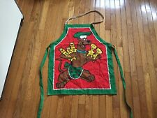 Christmas Scooby Doo Fabric Apron Cut & Sew Panel Unisex Cotton-NEVER Used
