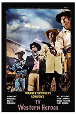 "4""x6"" MAGNET PRINT - James Garner, Clint Walker, Will Hutchins,Wayde Preston"