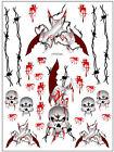 "Sic Designs ""Knives and Skulls"" Sticker Sheet SIC020"