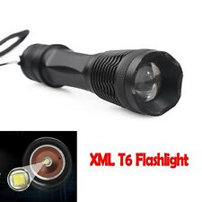 XML T6 LED 5-mode 8000LM Waterproof Bright Zoomable Flashlight Torch 766