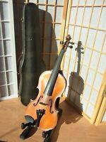 Alte Vintage Geige Violine 4/4 mit Geigenkoffer 4/4 Volle Full Size