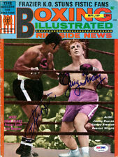 Joe Frazier & Jerry Quary Autographed Boxing Illustrated Cover PSA/DNA S47540