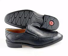 R - Men's ECCO 'Windsor'  Black Leather Loafers Size US 7 EUR 41