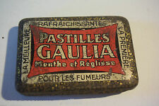C38 Boite en métal Pastilles Gaulia pour fumeurs menthe et réglisse