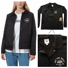 VANS Ladies Thanks Coach Attendance Jacket Black Size S NEW RRP £60