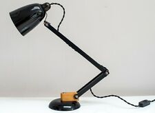 Rare Vintage MacLamp with wooden arms Covered with its original black vinyl WOW