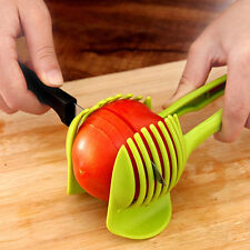 Hot Hand-held Lemon Onion Tomato Fruit Slicer Cutter Food Clips Kitchen Dulcet