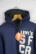 SHERPA Womens LEVIS Fleece Hoodie Size 16 URBAN ZIPPER Hooded WARM Sweater P22
