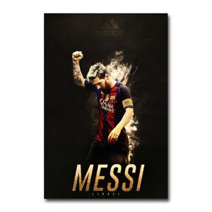Lionel Messi Football Star Art Silk Poster 13x20 20x30inch