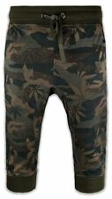 New Men Capris French Terry Jogger Shorts Joggers Weed Print ALL Sizes Mari J
