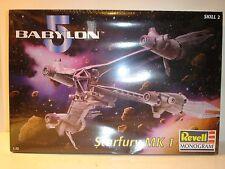 1997 Sealed 1/72 Scale Revell Monogram Babylon 5 Starfury MK 1. Model # 85-3621.