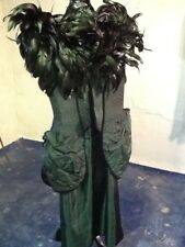 Magestic Penny Green made in England Corset Gown with Feather Bodice and Slim Sk