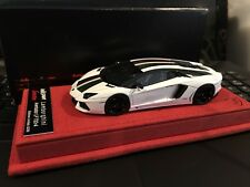 1/43 LookSmart Calsito Lamborghini Aventador LP 700-4 White/Carb #02/30 n BBR MR