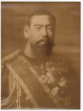 Rare Large 1890s Photo of Emperor Meiji of Japan with numerous Japanese Medals