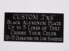 "Custom Engraved Plate Aluminum 2""x4"" Custom Name Plate Plaque Art Label Tag Gift"