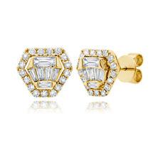 1/4 Ct Round Diamond 14K Yellow Gold Stud Earrings