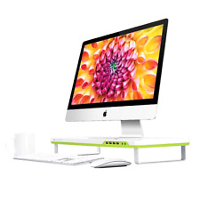 Smart Monitor Stand with Four USB Ports and Headphone Microphone Extension Ports