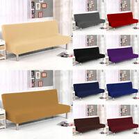 Stretch Armless Sofa Bed Cover Futon Slipcover Full Folding Elastic Protector US