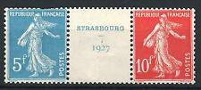 "FRANCE STAMP TIMBRE 242 A "" SEMEUSE 5F + 10F STRASBOURG 1927 "" NEUFS A VOIR P386"