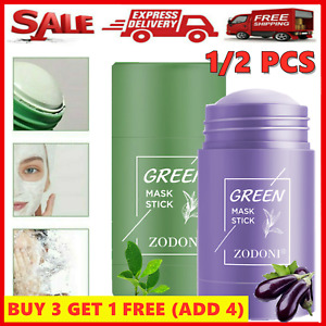 Green Tea Purifying Clay Stick Mask Oil Control Anti-Acne Eggplant Solid Gifts