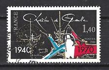 France 1980 Charles de Gaulle n° 2114 oblitéré 1er choix (3)
