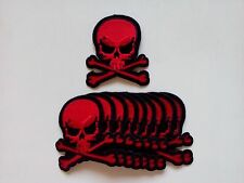 """10 Pirate Skull/X  (BR) Embroidered Patches 3""""x2.75"""""""
