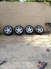 Azev type a 16x7.5 16x9 5x100 w/ falken 205/40/16 tires rare nla vw Audi