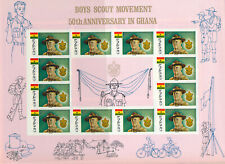 GHANA 1967 BOYS SCOUT MOVEMENT SG483/485 COMPLETE IMPERF AND PERF SHEETS MNH