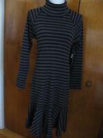 Lauren Jeans CO Women's black gray turtleneck dress size Medium NWT