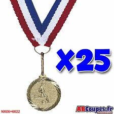 Lot de 25 médailles Foot avec rubans NEUF - NX06