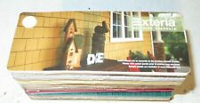 EXTERIA Building Vinyl Siding Color Swatch Sample Craft Doll House Multi-use