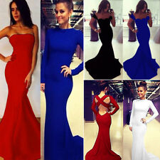 Formal Wedding Evening Cocktail Party Off Shoulder Maxi Dress Mermaid Long Gown