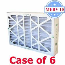 20x25x4 Air Filter MERV 10 Pleated by Glasfloss - Box of 6 - AC/Furnace Filters