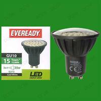3w Eveready LED 6500k Luz Natural Blanca Súper Bajo consumo GU10 lámpara foco