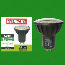 8x 3w Eveready LED 6500k luz natural blanca GU10 Instantáneo en punto Bombillas