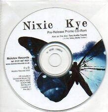 (612H) Nixie Kye, CD-ROM pre-release - DJ CD