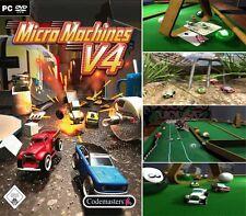 MicroMachines MICRO MACHINES V4 PC NEU OVP Kult !!! Kostenloser Versand