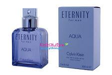 Eternity Aqua by Calvin Klein 3.4oz EDT Spray NIB Sealed Men's Cologne