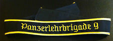 ✚2934✚ German Bundeswehr GENERAL cuff title 9th PANZER LEHRBRIGADE embroidered