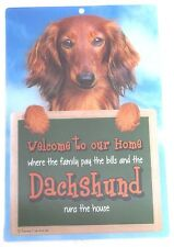 Dachshund 3d Welcome Sign STUNNING 3d Great Christmas Stocking Filler