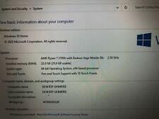 HP ENVY X360 15m-ds0012dx5TV96UARyzen 7 3700U Vega 10 - 256GB NVME - 16GB RAM