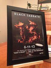 "FRAMED BLACK SABBATH (OZZY OSBOURNE) ""13"" LP ALBUM PROMO AD + FREE TRIBUTE CD!"