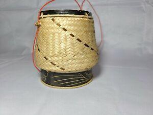 Lao Sticky Rice Basket Bamboo Fam Tawb Mov