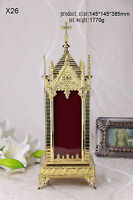 "+Brass Large monstrance Reliquary for Church or home+relic+gift 15.16""H X26"