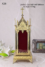"""+Brass Large monstrance Reliquary for Church or home+relic+gift 15.16""""H X26"""