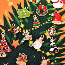 50Pcs/Set Enamel Mixed Christmas Charms Alloy Pendant Jewelry DIY Accessories