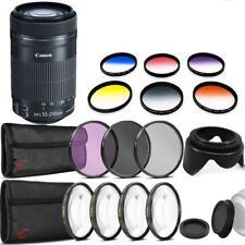 Canon EF-S 55-250mm F4-5.6 IS STM Lens w/ Bundle Kit for Canon SLR Cameras